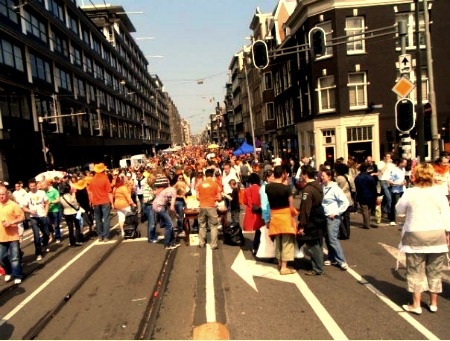 The last Queens Day in Amsterdam