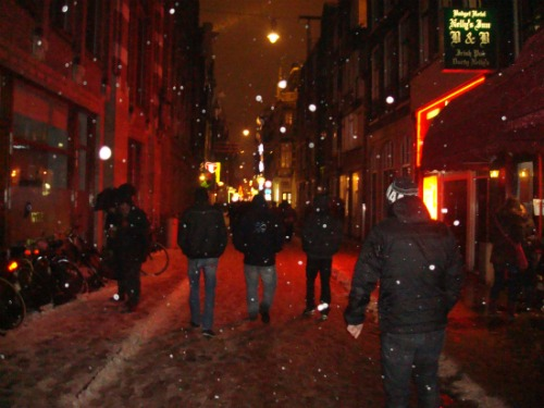 November- Amsterdam- Here comes the snow